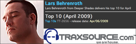 Lars Behrenroth Traxsource Charts April 2009