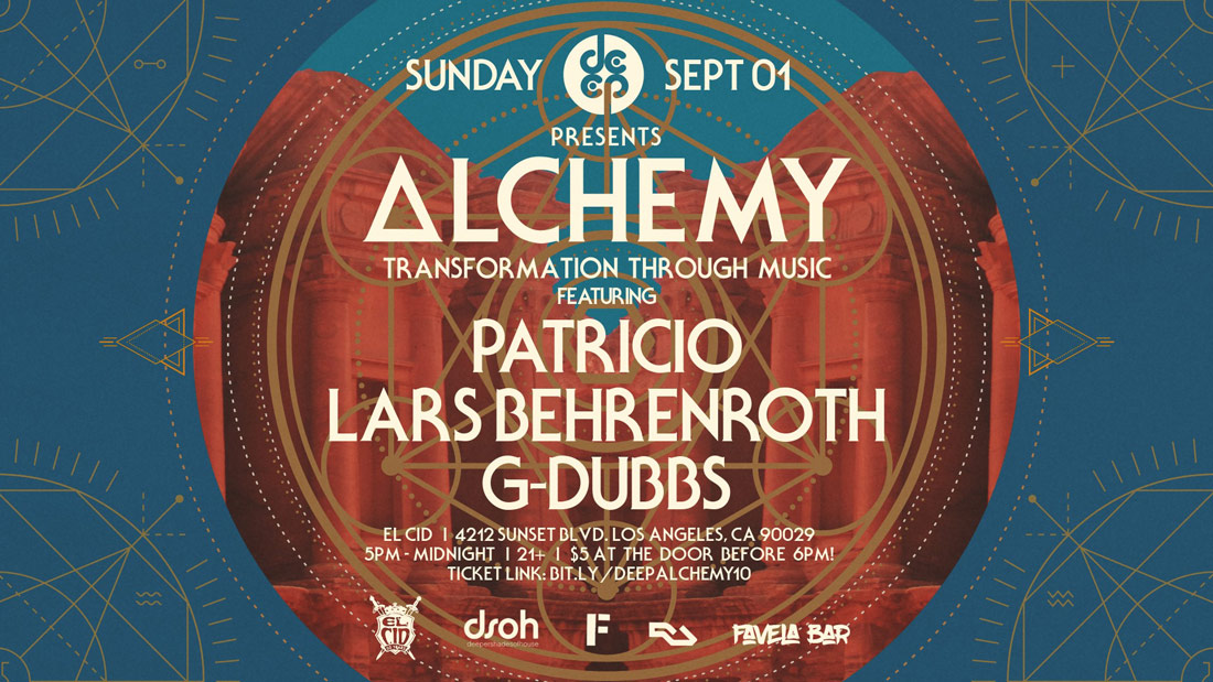 Sunday, September 1st - LARS BEHRENROTH at Alchemy in Los Angeles