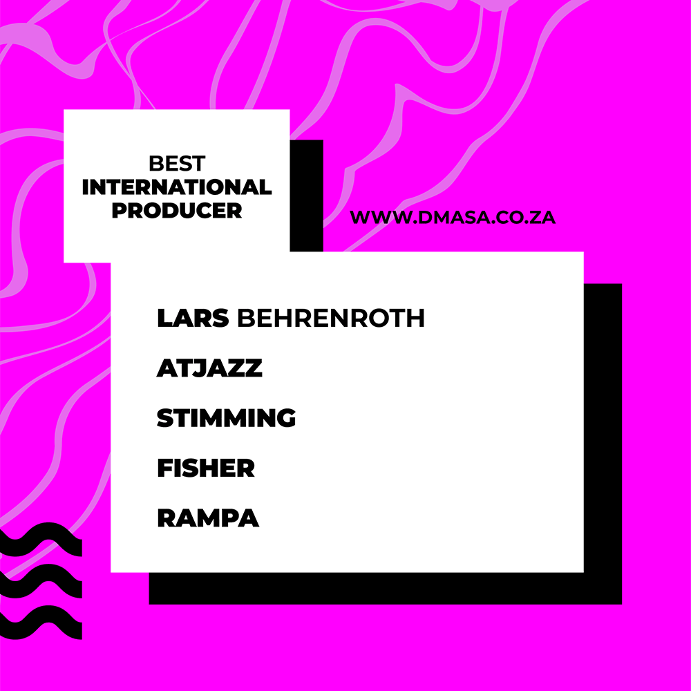 Lars Behrenroth nominated in two South African Dance Music Awards categories!