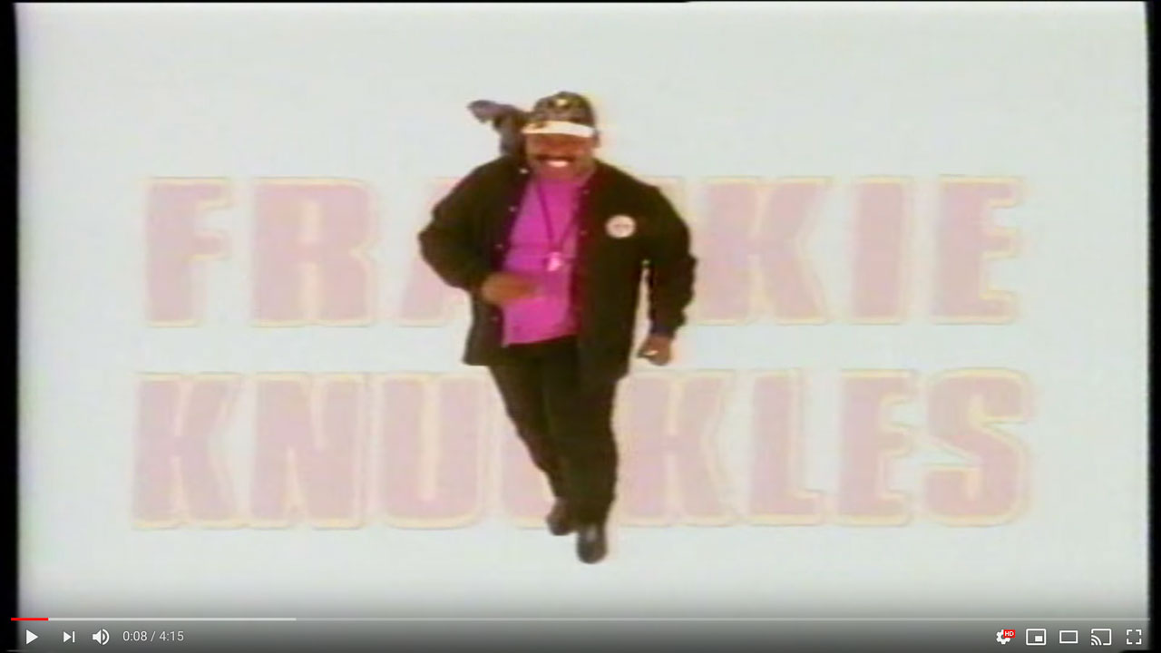 Frankie Knuckles - Whistle Song - Classic House Music Video
