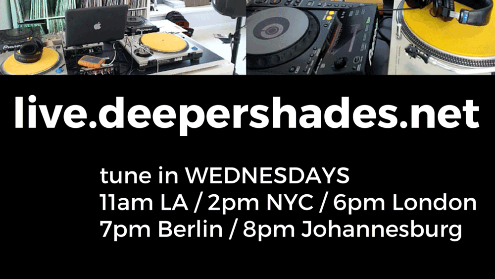 Tune in Wednesday for a live broadcast from Deeper Shades HQ