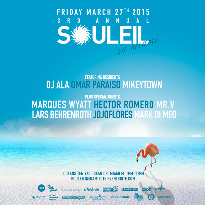 March 27th - 3rd Annual Souleil in Miami - WMC 2015